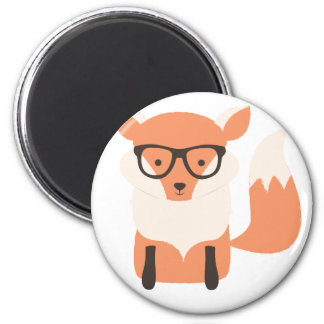 Fox Hipster Magnet