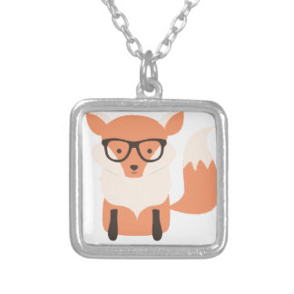Fox Hipster Silver Plated Necklace