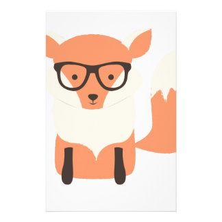 Fox Hipster Stationery