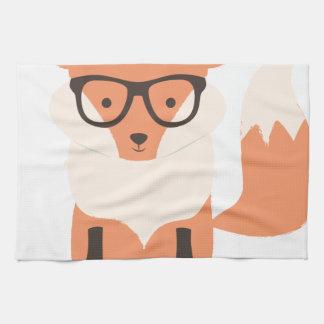 Fox Hipster Tea Towel