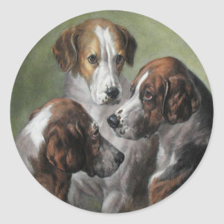 Fox Hounds Classic Round Sticker