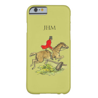 Fox Hunt Jumper Hunter Horse Custom Khaki Color Barely There iPhone 6 Case