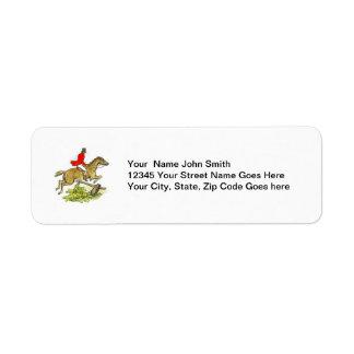 Fox Hunter Jumper Horse Equestrian Return Address Label