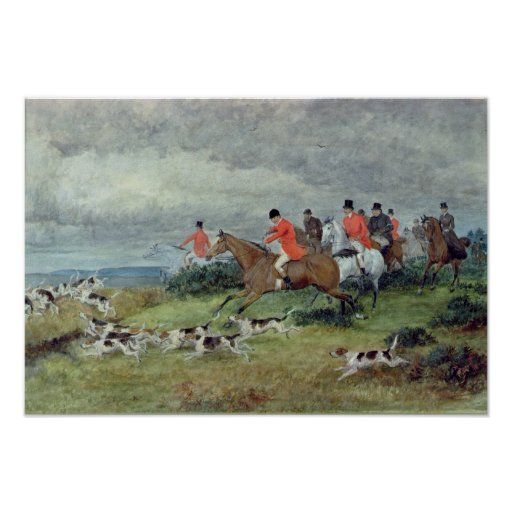 Fox Hunting in Surrey, 19th century Posters