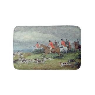Fox Hunting in Surrey, 19th century Bath Mats