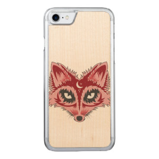 Fox Illustration Carved iPhone 7 Case