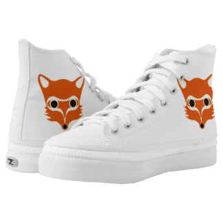 Fox illustration printed shoes