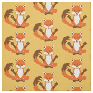 Fox in a yoga pose. fabric