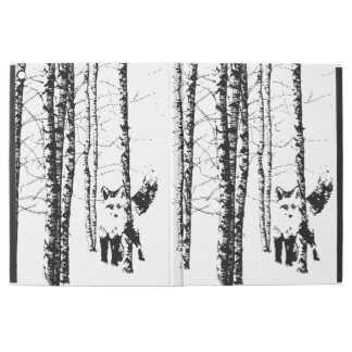 "Fox in Birch Tree Forest Animal Art iPad Pro 12.9"" Case"