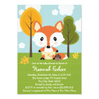 FOX IN DIAPERS BABY SHOWER CARD