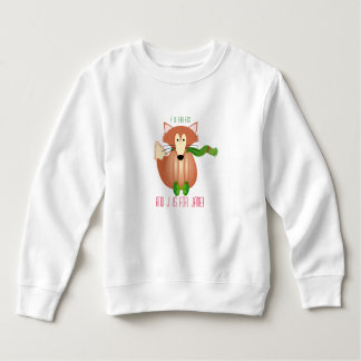 Fox in Mittens Kids Sweater