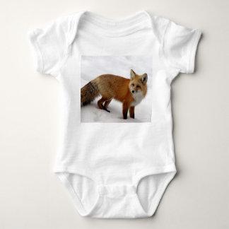 Fox in snow baby bodysuit