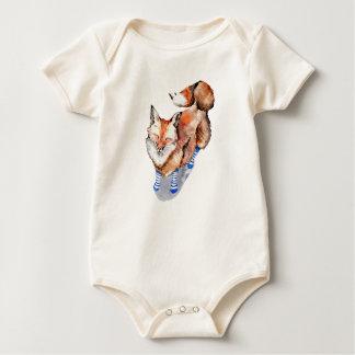 Fox in Socks Baby Bodysuit