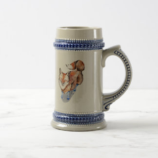 Fox in Socks Beer Stein