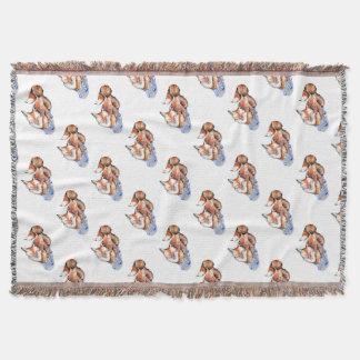 Fox in Socks Throw Blanket