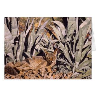 """Fox in the Desert """"Safe House"""" Card"""