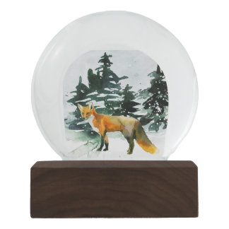 Fox in the Forest Snowglobe