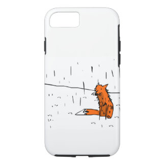Fox in the rain phone case