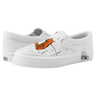 Fox in the rain slip ons printed shoes