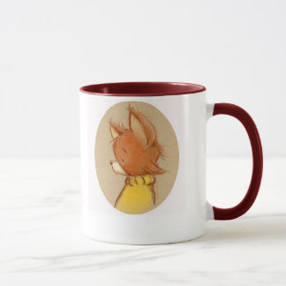fox in turtleneck mug