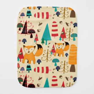Fox in wild burp cloth