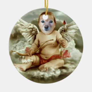 Fox Is A Cherub #2 Round Ceramic Decoration