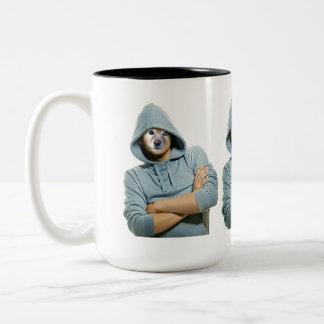 Fox Is A Rapper Two-Tone Coffee Mug