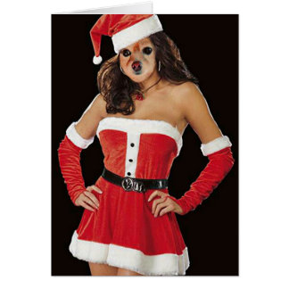 Fox Is Another Santa's Helper Greeting Card
