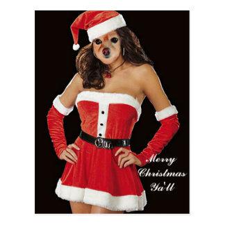 Fox Is Another Santa's Helper Postcard