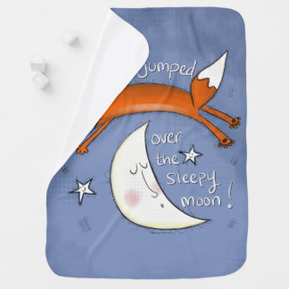 Fox Jumped Over the Moon Baby Blanket