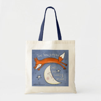 Fox Jumped Over the Moon Tote Bag