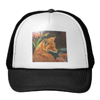 fox landscape paint painting hand art nature cap