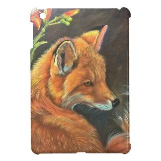 fox landscape paint painting hand art nature iPad mini case