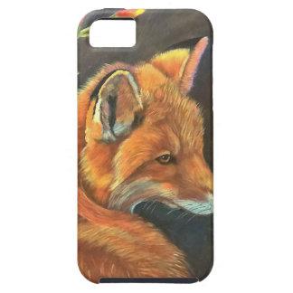 fox landscape paint painting hand art nature iPhone 5 cases