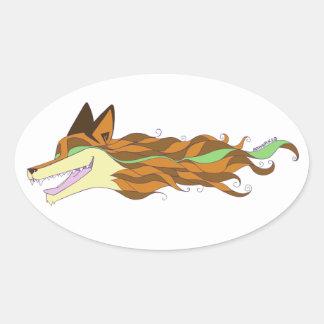 Fox Live Wildly Original Color Sticker