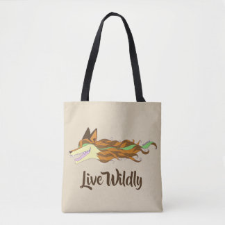 Fox Live Wildly Tote Bag