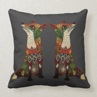 fox love lead linen cushion