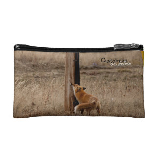 Fox Loves Utility Pole; Customizable Cosmetic Bag