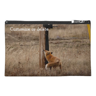 Fox Loves Utility Pole; Customizable Travel Accessories Bags