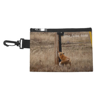 Fox Loves Utility Pole; Customizable Accessories Bag