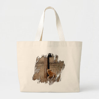 Fox Loves Utility Pole Jumbo Tote Bag
