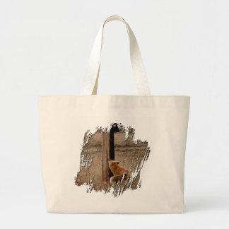 Fox Loves Utility Pole Jumbo Tote Bag