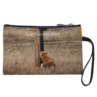 Fox Loves Utility Pole; Promotional Wristlet Purse