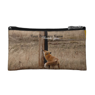 Fox Loves Utility Pole; Promotional Makeup Bags