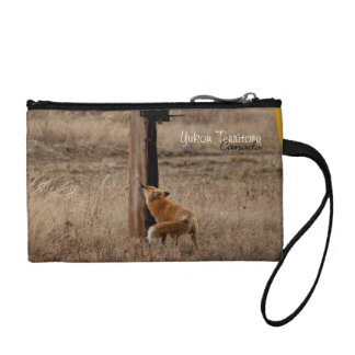 Fox Loves Utility Pole; Yukon Territory Souvenir Coin Wallets