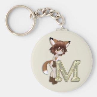 Fox M Key Ring
