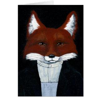 Fox male American Gothic spoof blank card