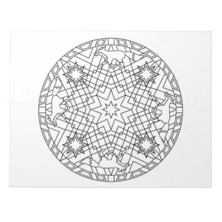 Fox Mandala Coloring Book Pad