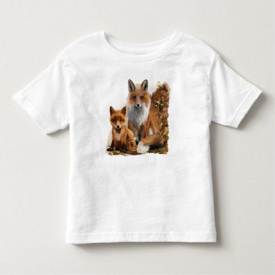 Fox mum and cub toddler T-Shirt
