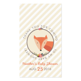 Fox Neutral Baby Shower Personalized Thank You Tag Business Card
